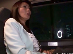 Sexy Japanese milf plays with a dick..