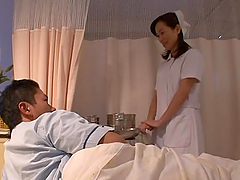 Japanese nurse gets fucked from behind..