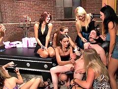 Bondage lovers organize a nasty sexy..