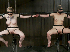 Chicks Gagged & Stuffed in Bondage..