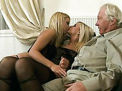 Old Man Has An Amazing Threesome With..