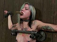 Awesome Bondage Video with tattooed..