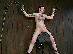 Pale Chick Gets Her Tits Tied till..