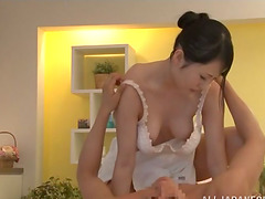 Sexy masseur is riding her client's..