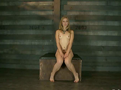 Clothespinned Chastity Lynn gets..