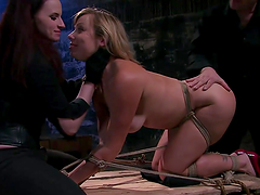 Lesbian BDSM scene with anal insertion