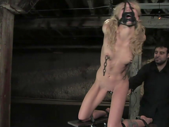 Slave Blonde Gets Toyed with In BDSM Scene