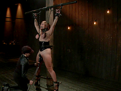 Busty Brunette's Tied Up And Tortured..