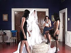 Wild Bride Has An Orgy With The..