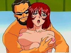 Bondage hentai girl foursome fucked..