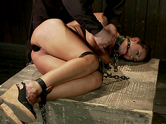 Intense Bondage Session with Large Breasted Chick