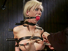 Hot-ass Bondage Scene with Blonde &..