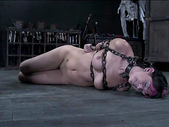 Hot Bondage Clip With A Kinky Emo Hottie