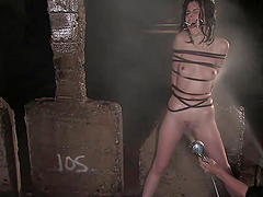 Water prison for slutty chick in bdsm..