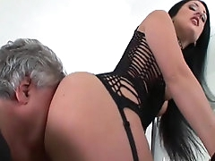 Slender milf with small tits gets her..