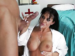 Deep Throated Brunette Doctor Savannah..