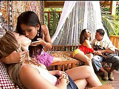 Hot Exotic Babes Fucking One Cock In..