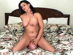 Horny brunette in wild femdom