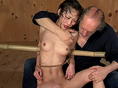 Water Bondage Leaves Asian Slut Out Of Breath