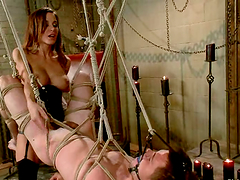 Gia Dimarco Ties Guy in Bondage..