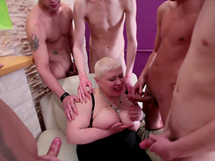 BBW Granny's Gangbanged By Horny Guys