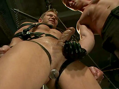 Gay On Gay Domination Action with Cock..