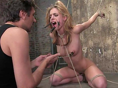 Gorgeous blond gets a cock deep in her..
