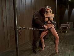 Blonde bitch gets toyed with by sadist..