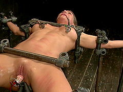Bondage device fucking whore getting..