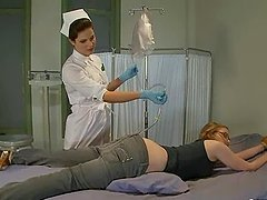 Kinky blonde Ivy Mokhov gets an enema..