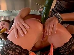 Hot chick gets her ass fucked stuffed..