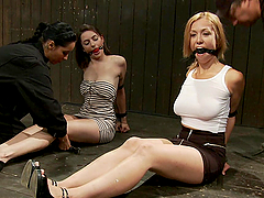 Two fucking sluts pinned to the ground..