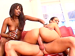Ebony Hotties Have A Threesome With A..