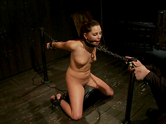 Chick chained and gagged by Mr. Torture