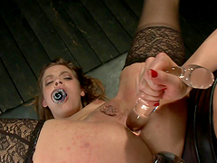 Two hot chicks get their assholes..