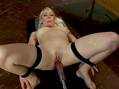 Tight bondage and fucking machine..