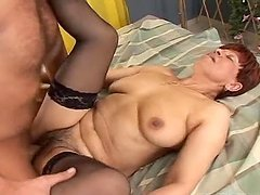 Kinky Granny Is Creampied By A Horny Guy