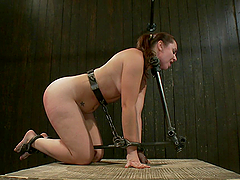 Red gets tied up and gagged in bondage..
