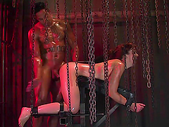 Awesome sweaty bondage anal sex!!!