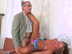 Rough Sex With A Slutty Blonde Teen And Her Old Teacher