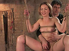Slender beauty Sarah Shevon gives a..