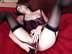 Sexy Veronica Franco In Hot Lingerie Masturbating With Toys