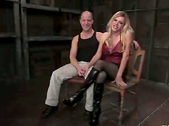 Shemale master fucks her male slave in..