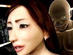Horny 3D hentai bitch rides prick