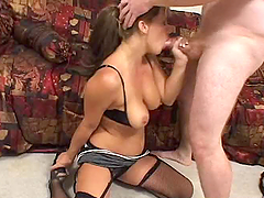 Blond and busty milf gets fucked by..