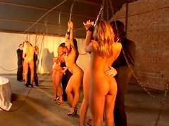 Three horny slaves Acril, Katsuni and..