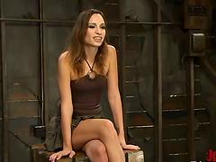 Gorgeous brunette siren Amber Rayne is..
