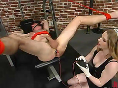 Princess Kali Playing with a Guy's Butt and Cock in Femdom BDSM Vid