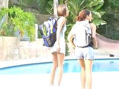Kinky Babes Having Fun in the Pool..