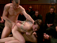 Slut bound & fucked in front of people